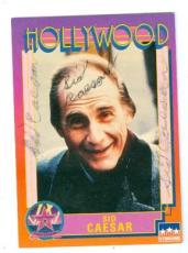 Sid Caesar autographed trading card (Comedian) 1991 Starline Hollywood Walk of Fame #61