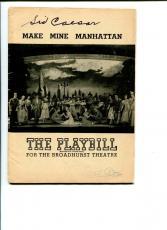 Sid Caesar Make Mine Manhattan June 28 1948 Broadway Signed Autograph Playbill