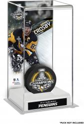Sidney Crosby Pittsburgh Penguins 2016 Stanley Cup Champions Logo Deluxe Puck Case