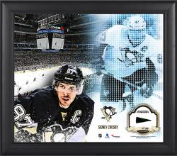 Sidney Crosby Pittsburgh Penguins Framed 15'' x 17'' Mosaic Collage with Piece Of Game-Used Puck-Limited Edition of 99