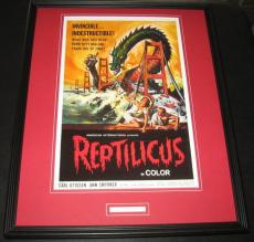 Sidney Sid Pink Signed Framed Reptilicus Poster Display Father of 3D Movies