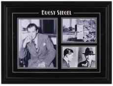 Bugsy Siegel Framed 3-Photograph Mug Shot Collage