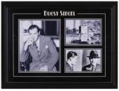 Bugsy Siegel Framed 3-Photograph Mug Shot Collage