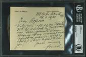 Sigmund Freud Signed 4.5x5.75 Letter Dated August 29 1933 BAS Slabbed