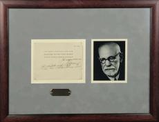 Sigmund Freud Signed Autographed 1936 Birthday Card w/ Inscription Beckett BAS