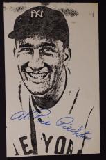 Signed AL Pie PIECHOTA Boston Braves Yankees Autographed Small Photo JSA 16E