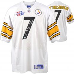 Ben Roethlisberger Pittsburgh Steelers Autographed White Jersey with SB XL Champs Inscription - Mounted Memories