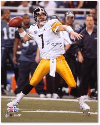 Ben Roethlisberger Pittsburgh Steelers Super Bowl XL 16'' x 20'' Passing Photograph - Mounted Memories