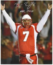 "Ben Roethlisberger Miami University RedHawks Autographed 16"" x 20"" Photograph with 'MAC Champs' Inscription - Mounted Memories"