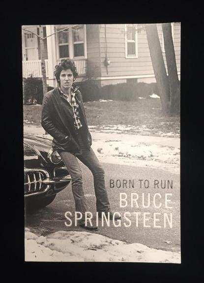 Signed Bruce Springsteen Born To Run Book. PSA