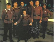 "Signed by 3 ""STAR TREK"" WILLIAM SHATNER, DEFOREST KELLEY, and GEORGE TAKEI - 11x8.5 Color Paper Thin"