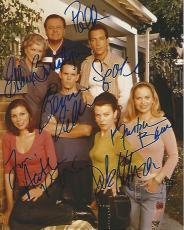 "Signed by 7 ELLEN BURSTYN, KEVIN DILLON, PAUL SORVINO, DEBI MAZAR, KRISTIN BAUER, HEATHER DUBROW, and TITUS WELLIVER on TV Series ""THAT'S LIFE"" 8x10 Color Photo"