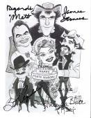 "Signed by AMANDA BLAKE as KITTY (Passed Away 1989), JAMES ARNESS as MATT DILLON (Passed Away 2011) and BURT REYNOLDS as QUINT in ""GUNSMOKE"" 8x10 B/W Photo"