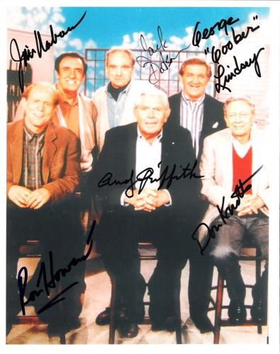 "Signed by ANDY GRIFFITH, RON HOWARD, DON KNOTTS, GEORGE LINDSEY, JIM NABORS, and JACK DODSON of ""THE ANDY GRIFFITH SHOW"" 8x10 Color Photo"