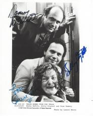 "Signed by BILLY CRYSTAL as LARRY, DANNY DEVITO as OWEN, and ANNE RAMSEY as MOMMA in 1987 Movie ""THROW MOMMA from the TRAIN"" (ANNE Passed Away 1988) 8x10 B/W Photo"