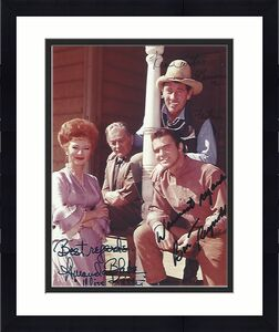 "Signed by BURT REYNOLDS as QUINT ASPER, AMANDA BLAKE as MISS KITTY, and KEN CURTIS as FESTUS of ""GUNSMOKE"" (AMANDA Passed Away 1989 and KEN 1991) 8x10 Color Photo"