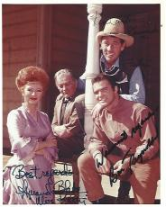 "Signed by BURT REYNOLDS as QUINT ASPER, AMANDA BLAKE as MISS KITTY, and KEN CURTIS as FESTUS of ""GUNSMOKE"" (AMANDA Passed Away 1989 and KEN 1991) 8x10 Color Photo"