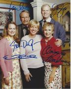 "Signed by ELLEN DEGENERES, JIM GAFFIGAN, EMILY RUTHERFORD, MARTIN MULL, and CLORIS LEACHMAN in ""THE ELLEN SHOW"" 8x10 Color Photo"