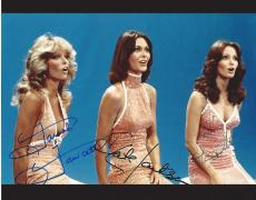 "Signed by FARRAH FAWCETT as JILL, JACLYN SMITH as KELLY, and KATE JACKSON as SABRINA in TV Series in ""CHARLIE'S ANGELS"" Signed 10x8 Color Photo"