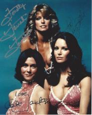 "Signed by FARRAH FAWCETT as JILL, JACLYN SMITH as KELLY, and KATE JACKSON as SABRINA in TV Series in ""CHARLIE'S ANGELS"" Signed 8x10 Color Photo"