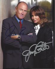 "Signed by JACLYN SMITH as JUDGE KAY WOODBURY and CORBIN BERNSEN as DAVID WOODBURY in 2005 TV Movie ""ORDINARY MIRACLES"" 8x10 Color Photo"
