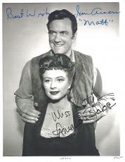 "Signed by JAMES ARNESS as MATT DILLON and AMANDA BLAKE as MISS KITTY from ""GUNSMOKE"" (JAMES Passed Away in 2011 and AMANDA in 1989) 7x9 B/W Photo"