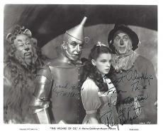 """Signed by RAY BOLGER as HUNK/SCARECROW and JACK HALEY as HICKORY/TIN MAN in """"THE WIZARD of OZ"""" RAY passed away in 1987 and JACK 1979) 10x8 B/W Photo"""