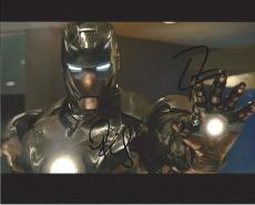 """Signed by ROBERT DOWNEY JR. as IRON MAN and DON CHEADLE as COLONEL JAMES RHODES in """"IRON MAN 3"""" 10x8 Color Photo"""