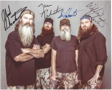 """Signed by WILLIE ROBERTSON, PHIL ROBERTSON, SI ROBERTSON, and JASE ROBERTSON of """"DUCK DYNASTY"""" 10x8 Color Photo"""