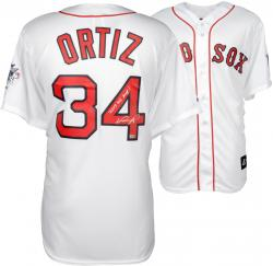 David Ortiz Boston Red Sox 2013 World Series Champions Autographed Majestic Replica Home Jersey with 2013 WS MVP Inscription