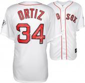 David Ortiz Boston Red Sox 2013 World Series Champions Autographed Majestic Replica Home Jersey with 2013 WS MVP Inscription