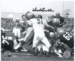 Chicago Bears Dick Butkus Autographed Black and White 8'' x 10'' Photograph - Mounted Memories