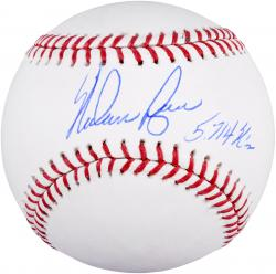 "Nolan Ryan Autographed Baseball with ""5714 K's"" Inscription"