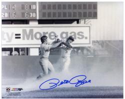 "Pete Rose Cincinnati Reds Fight with Bud Harrelson 8"" x 10"" Autographed Photograph"
