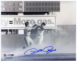 "Pete Rose Cincinnati Reds Fight with Bud Harrelson 8"" x 10"" Autographed Photograph"