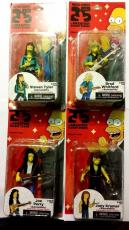 SIGNED set of 4 NECA Simpsons 25th Annv. Series 4 AEROSMITH BAND Action Figures