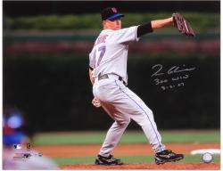 "Tom Glavine New York Mets 300th Win Autographed 16"" x 20"" Photograph with ""300 Win 8-5-07"" Inscription - Mounted Memories"