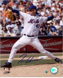 Tom Glavine New York Mets Autographed 8'' x 10'' Releasing Ball Photograph - Mounted Memories