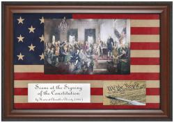 Signing Of The Constitution Framed Photo (flag Matting) 2 Plates