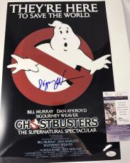 SIGOURNEY WEAVER signed 12x18 Poster GHOSTBUSTERS Dana Barrett JSA Authenticated