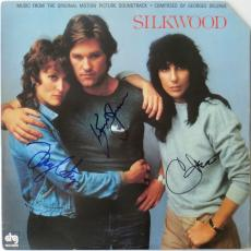 Silkwood (3) Multi-Signed Album Cher, Russell + Meryl Streep PSA/DNA #AA09015