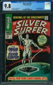 Silver Surfer #1 Cgc 9.8 Oww Origin Silver Surfer Highest Graded Cgc #1416894004