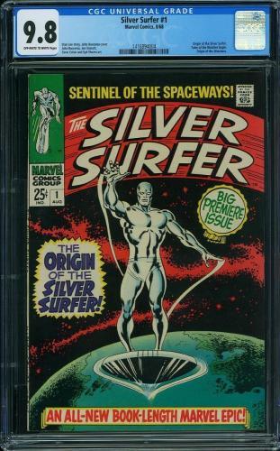Silver Surfer #1 Cgc 9.8 Oww Origin Silver Surfer Highest Graded Cgc #1416894004