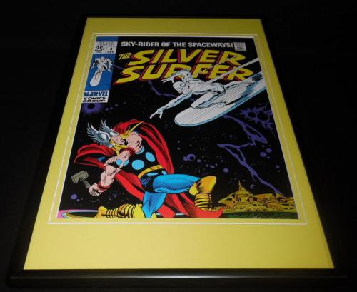 Silver Surfer #4 Framed 12x18 Cover Photo Poster Display Official Repro Thor
