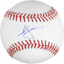 Andrelton Simmons Atlanta Braves Autographed Baseball - Mounted Memories