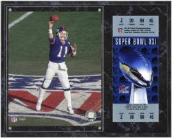 Phil Simms New York Giants Super Bowl XXI Sublimated 12x15 Plaque with Replica Ticket