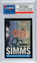Phil Simms New York Giants Autographed 1985 Topps #123 Card - Mounted Memories