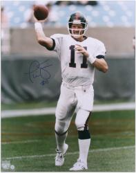 Phil Simms New York Giants Autographed 16'' x 20'' Passing Photograph