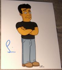 "Simon Cowell Signed Autograph Rare ""simpsons"" Cool Episode Promo 8x10 Photo Coa"