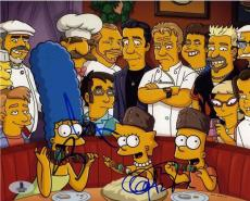 Simpsons Fieri & Ramsay Autographed Signed 8x10 Photo Beckett BAS COA